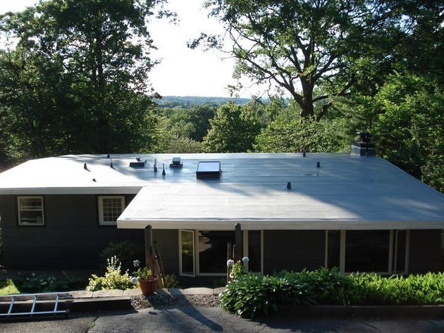 TPO roofing on single-family home.