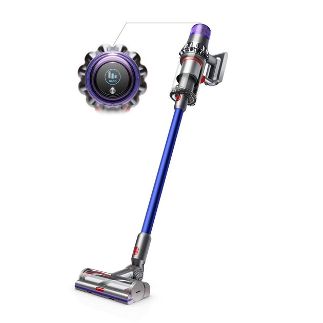 purple, silver, and red Dyson V11 Torque Drive Cord-Free Vacuum