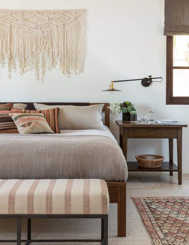 desert themed bedroom with boho desert chic