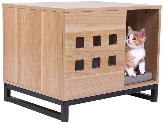 pet crate side table