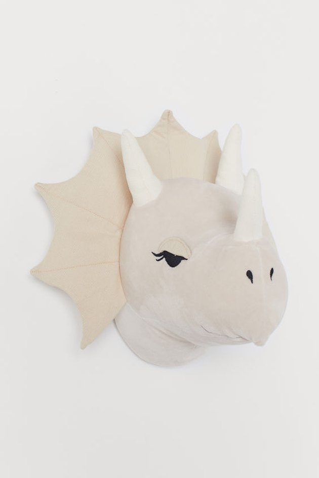 plush dinosaur wall decoration
