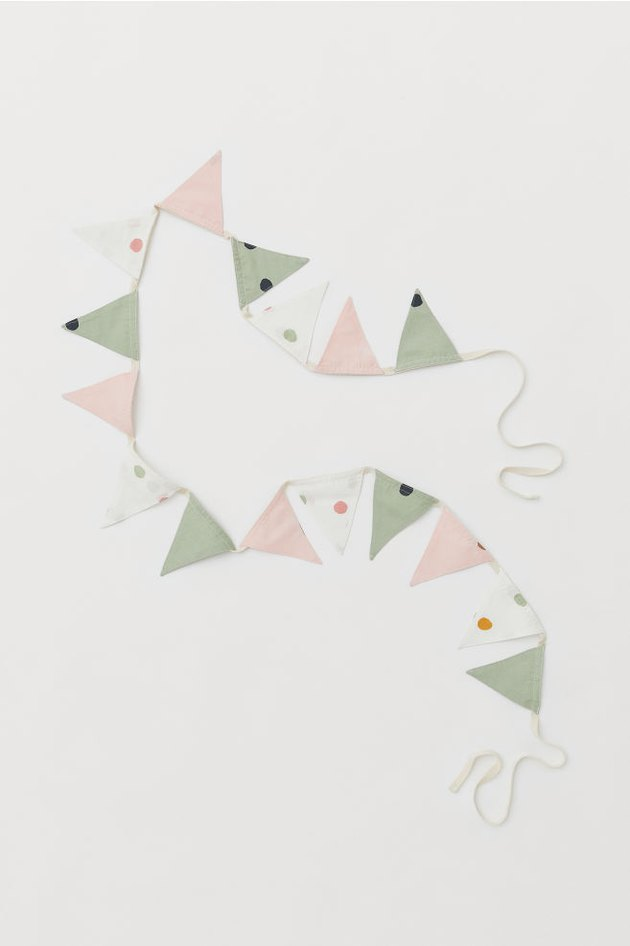 pennant garland with triangles in various colors