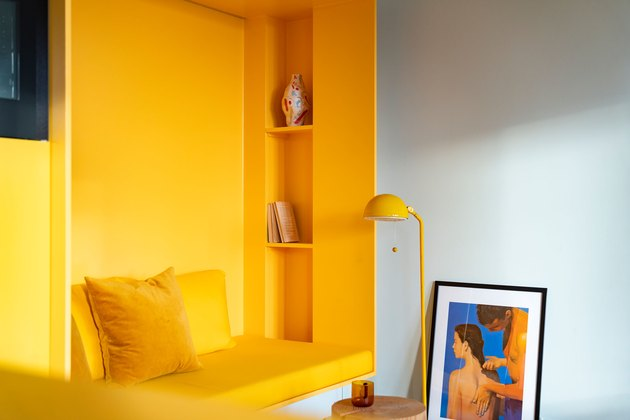 yellow reading nook