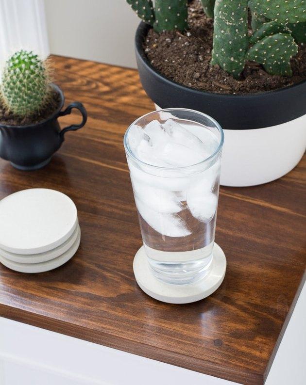 DIY Minimal Concrete Coasters