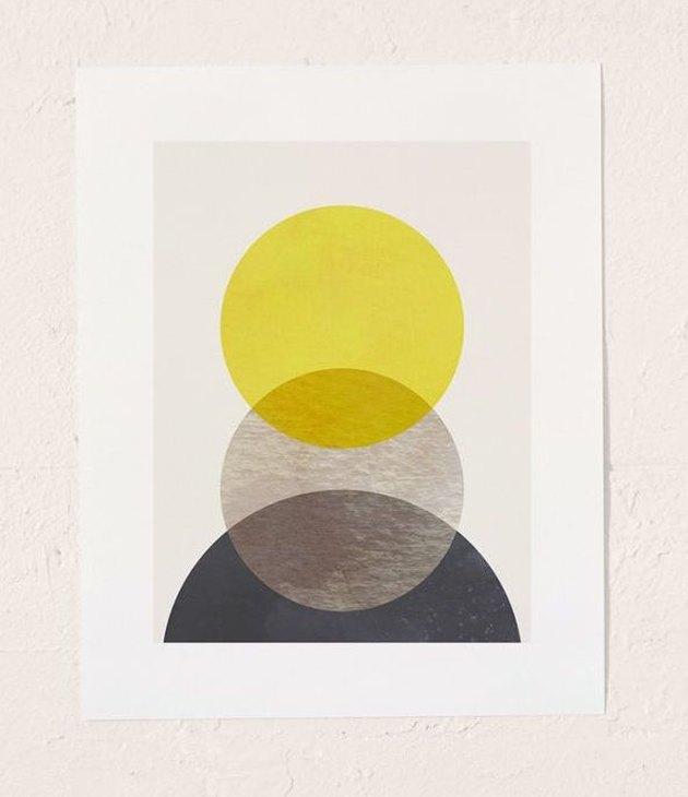 Georgiana Paraschiv Sun Earth Moon Art Print, $19