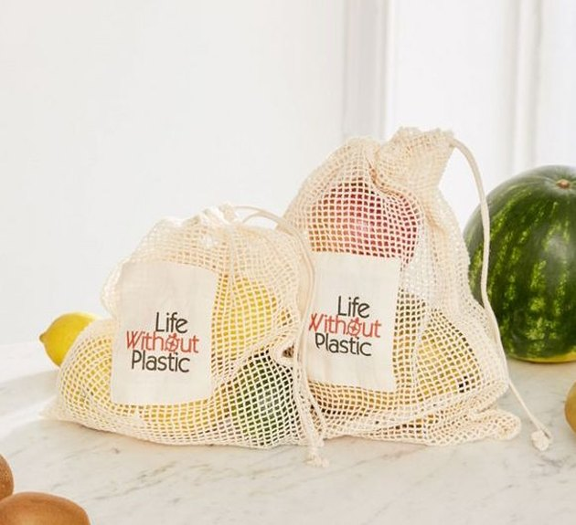 Life Without Plastic Cotton Mesh Produce Bag, $8