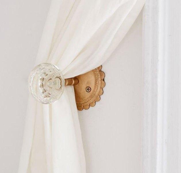 Crystal Door Knob Curtain Tie Back, $16
