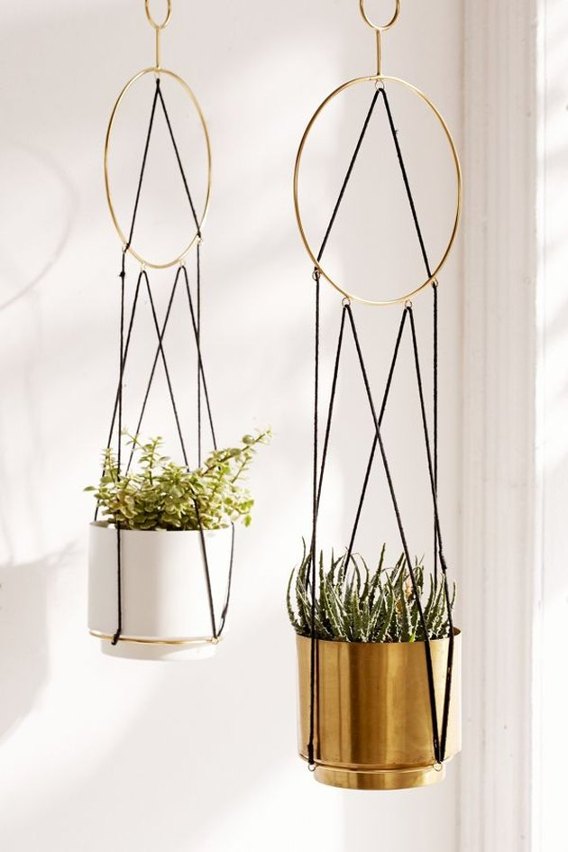 Triangle String Hanging Planter, $18