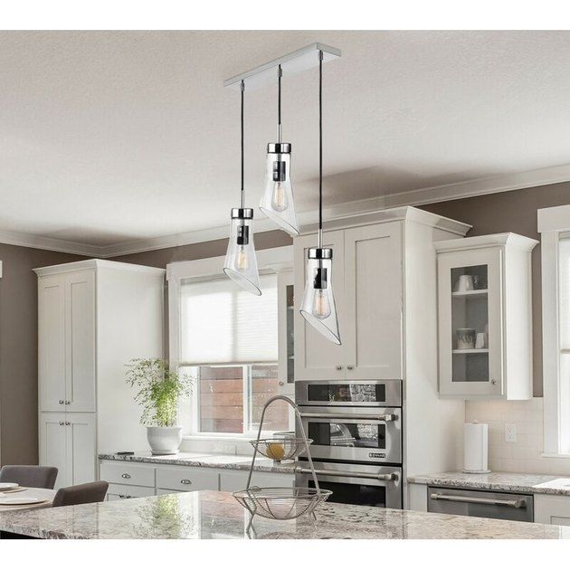 glass pendant kitchen island lighting