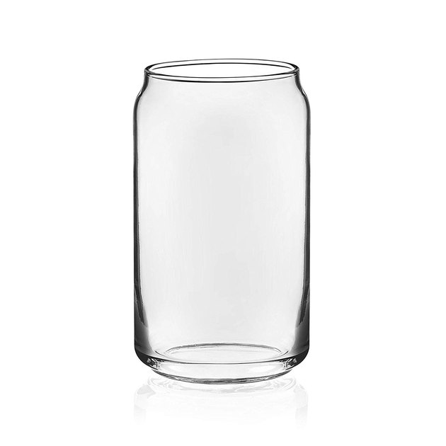 glass beer can tumbler set