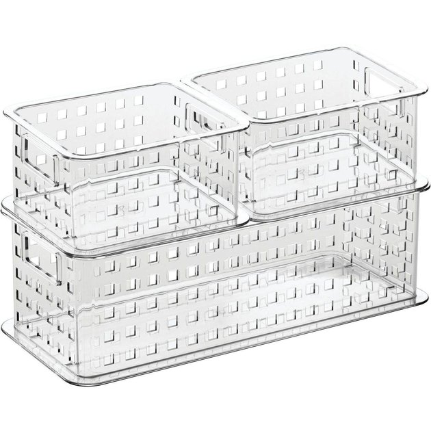 clear storage basket set