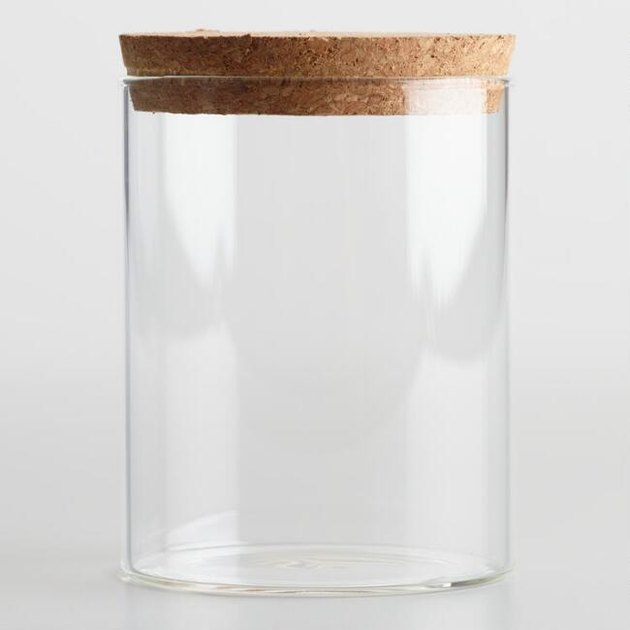 Small Glass Canister With Cork Top, $2.99