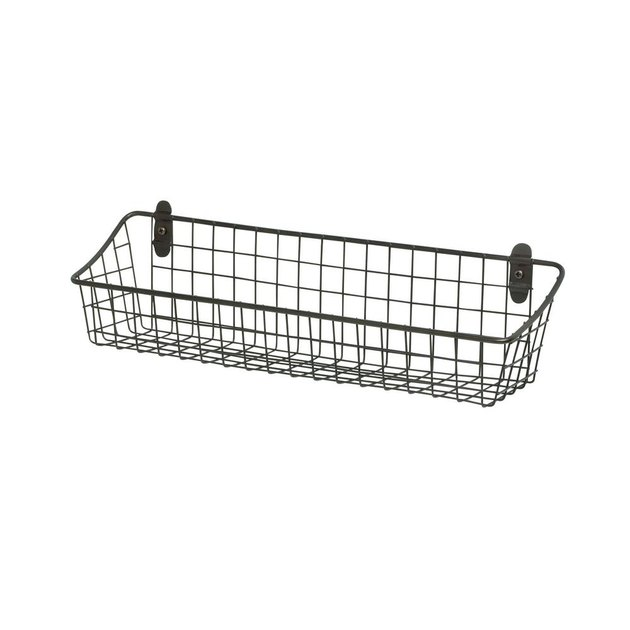 gray wall mount basket