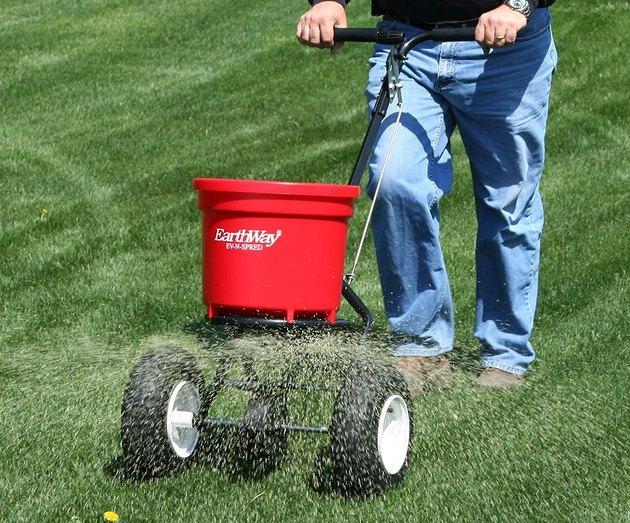 Lawn spreader.