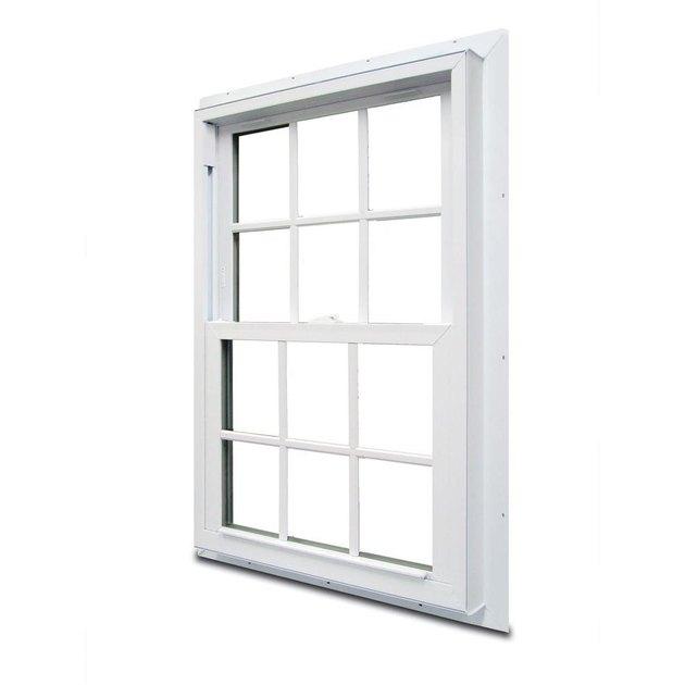 Double-hung window.