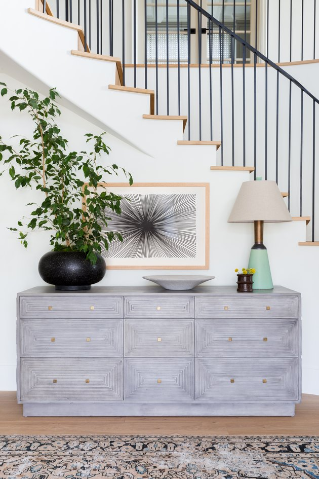 Entryway table with accents