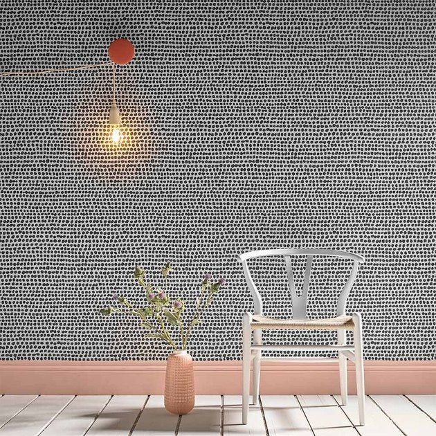 monochrome dot Scandinavian wallpaper