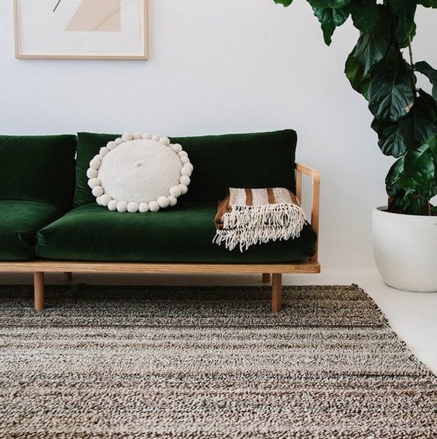 hand-loomed wool rug