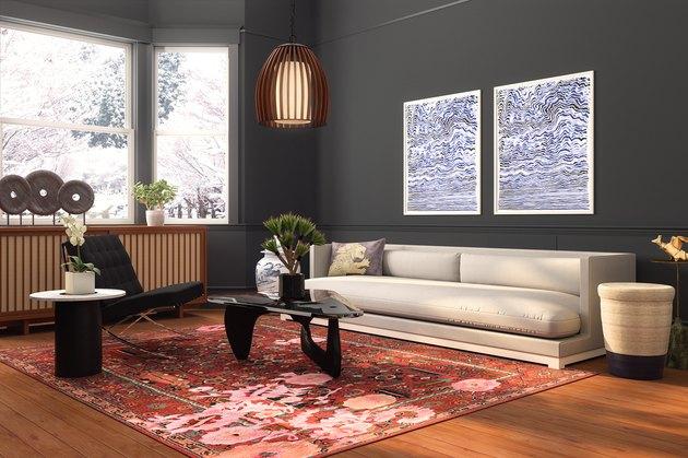 modern Chinese-inspired living room