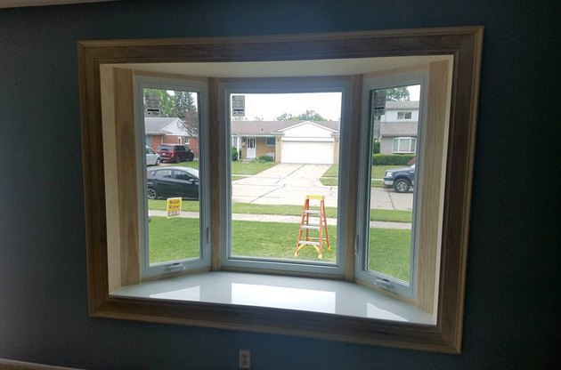 Bay window with casements.