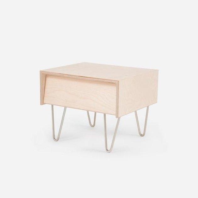 birch bedside table