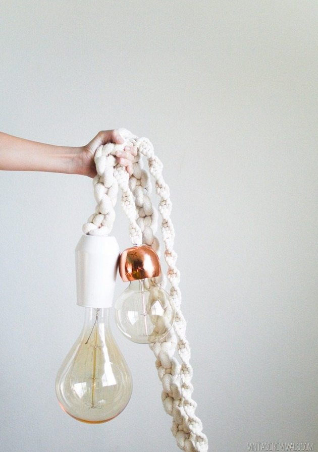 macrame rope light