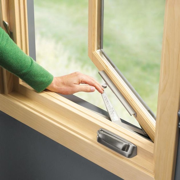 Casement window mechanism.
