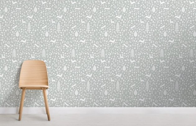 folk art Scandinavian wallpaper