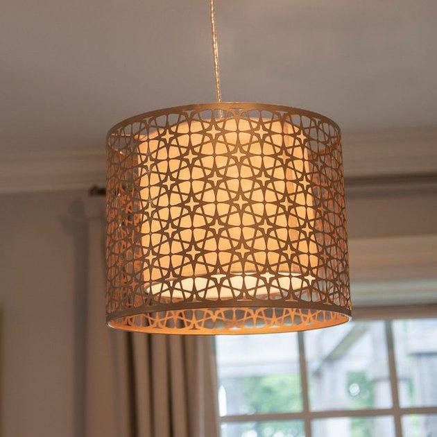 retro-style pendant light