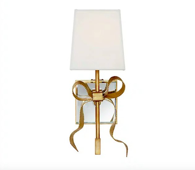 Ellery Small Grosgrain Bow Sconce, $380