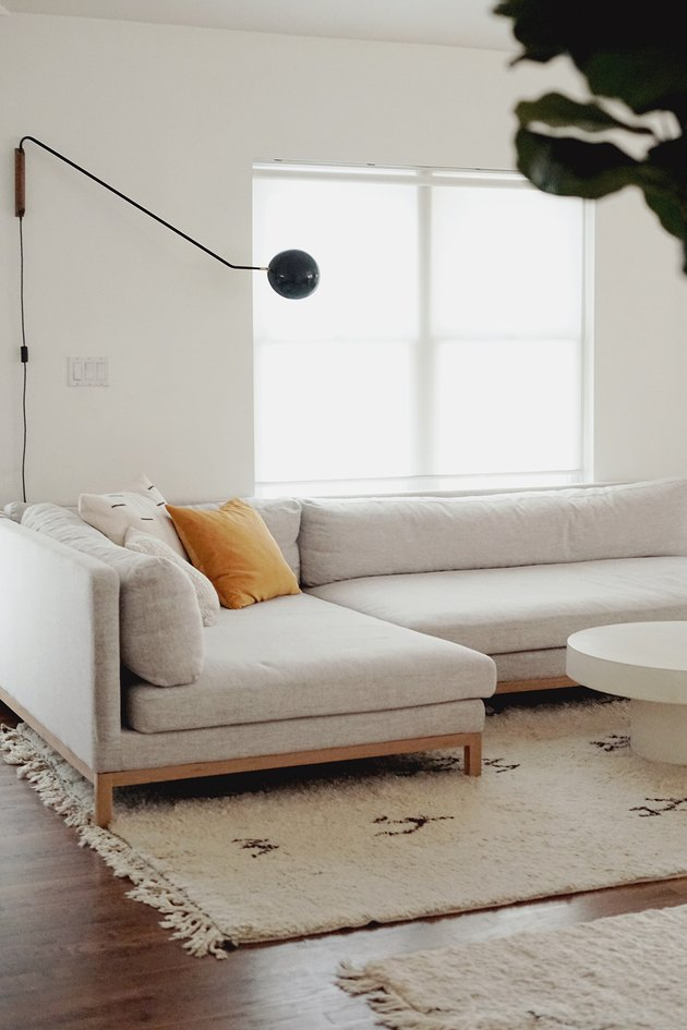 minimalist white living room