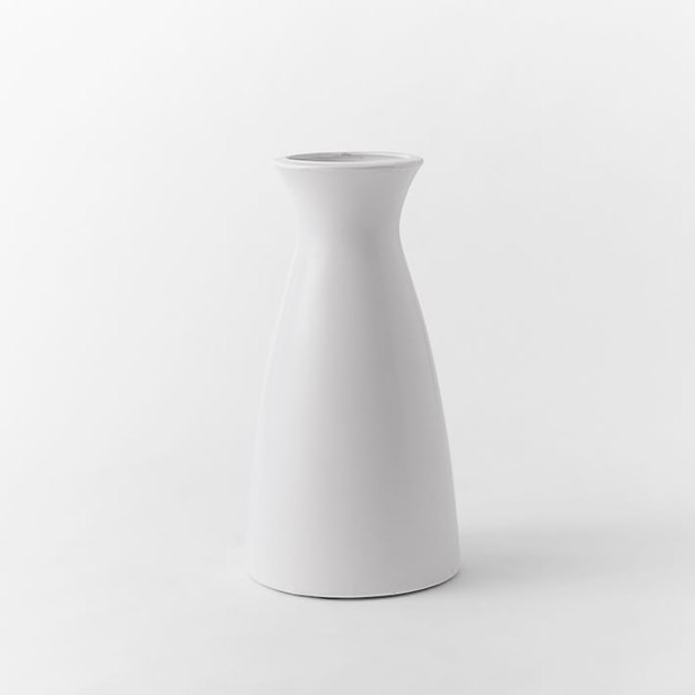 White ceramic carafe
