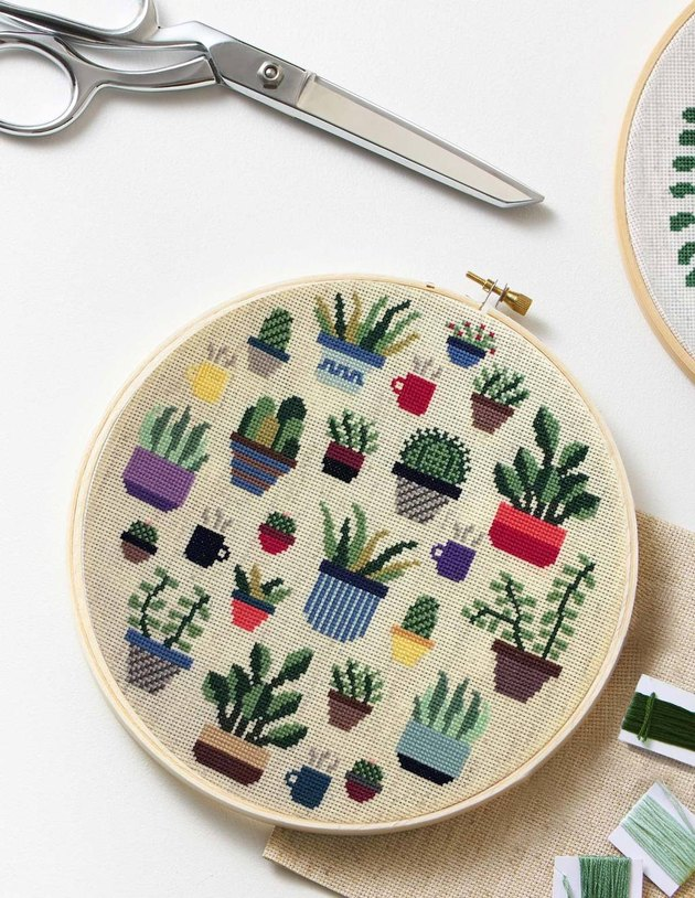 Botany Cross Stitch Kit from The Sill's Valentine's Day collection