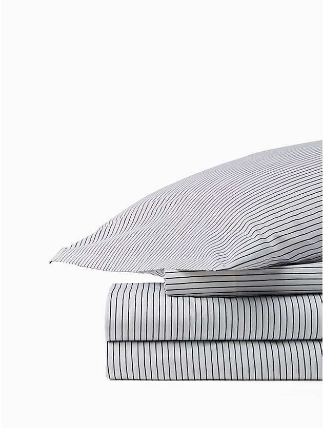 Skinny Stripe Sheet Set, $110