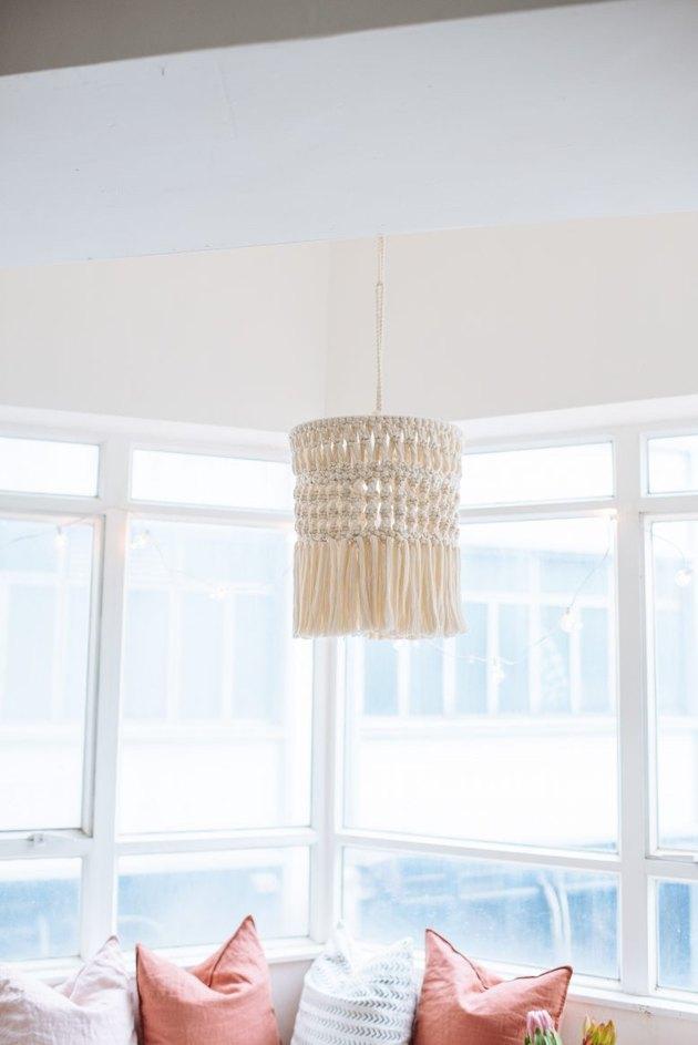 DIY bohemian macrame chandelier