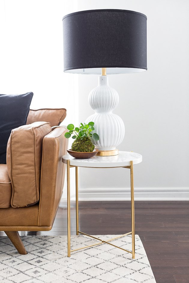 IKEA Gladom table marble and gold hack