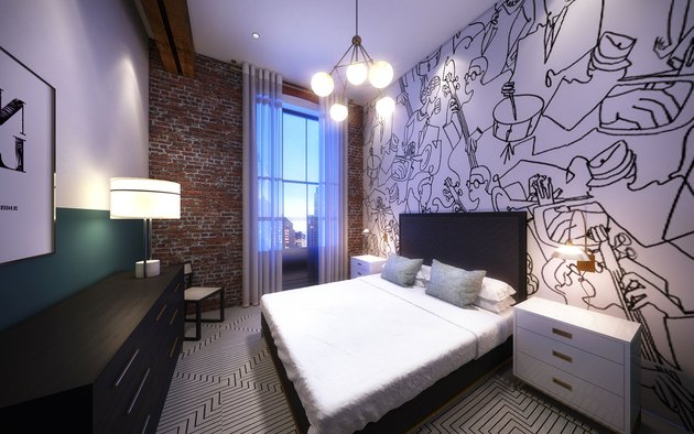 A queen bedroom at Domio's Baronne Street property.