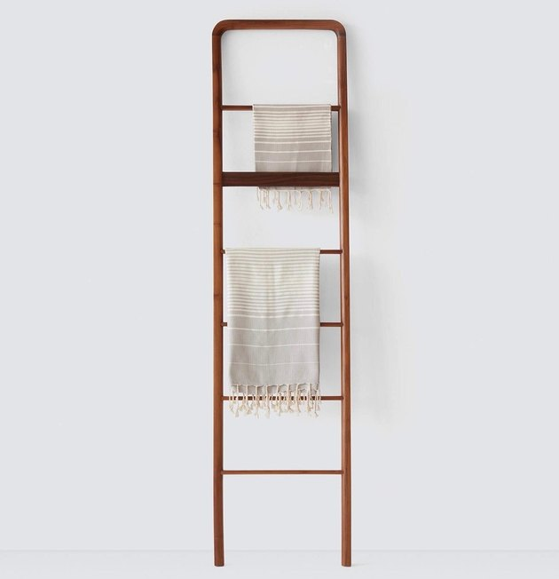 wooden bedroom storage ladder