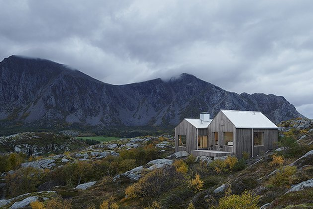 Scandinavian style house in natural landscape