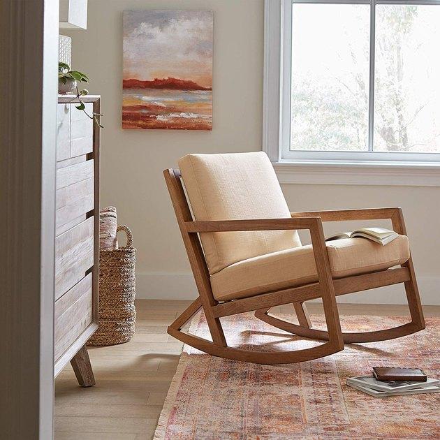 Stone & Beam Modern Hardwood Rocking Chair, $242.48