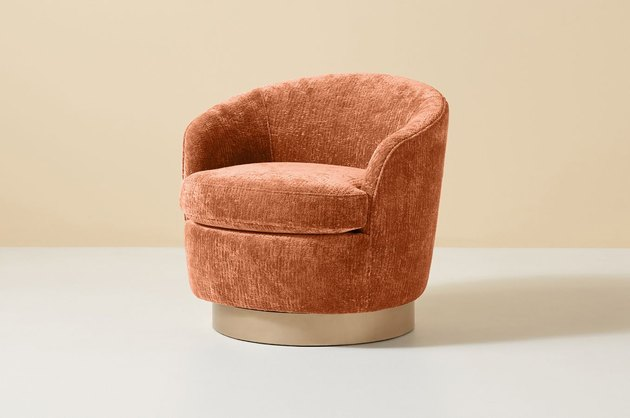 swivel chair in chenille