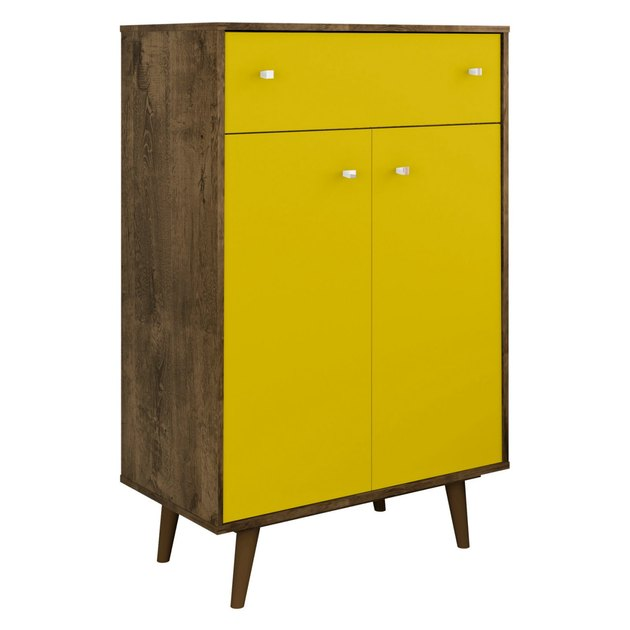 tall accent chest with yellow doors