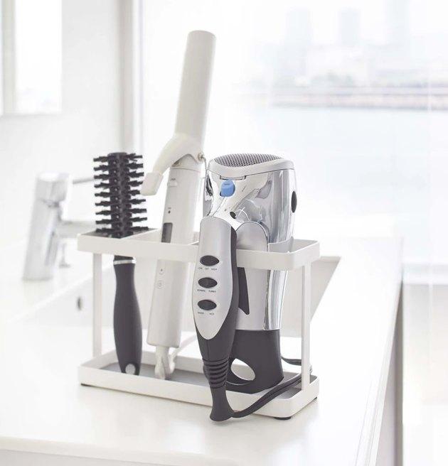 Simple white hair tool organizer