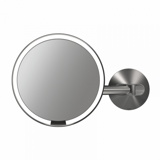 Wall-mount lighted mirror