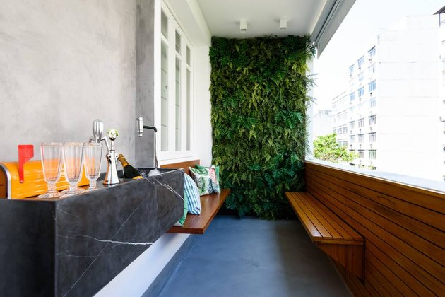 balcony with living wall