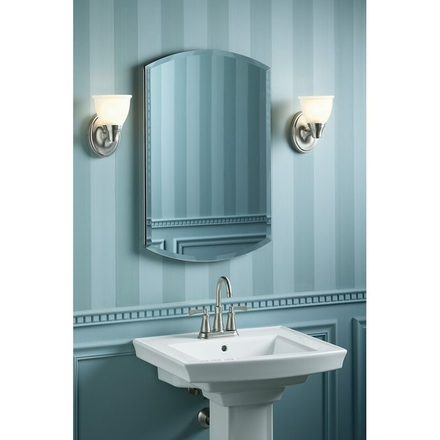 medicine cabinet with arched mirror
