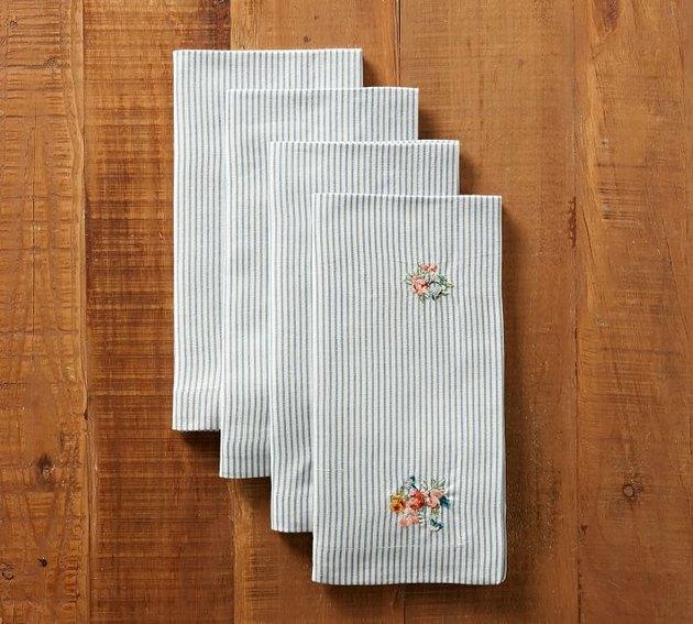 floral embroidered napkins