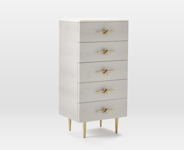 five-drawer dresser