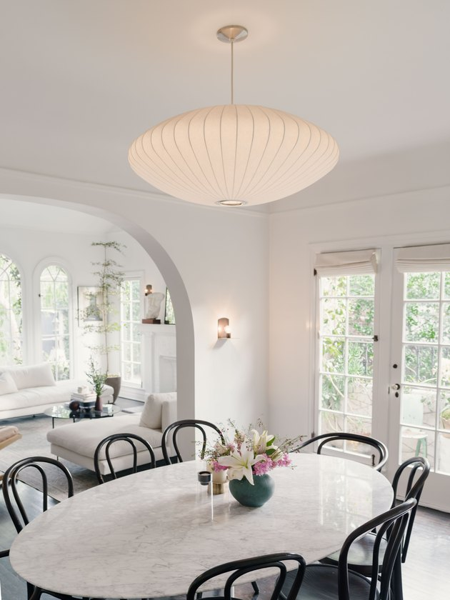 dining room lighting idea with George Nelson Saucer Bubble Pendant Lamp in Dining Room