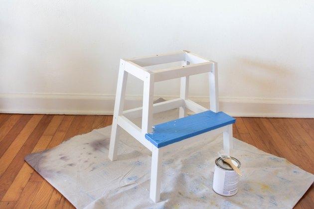 Tabouret IKEA BEVKAM peint